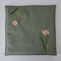 TETOTE 椅子敷き 大 グリーン 原種チューリップ