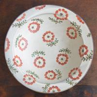 ヒヅミ峠舎 色絵八寸リム鉢