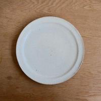 坪井俊憲 ひび粉引き 六寸リム皿