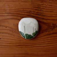 大谷桃子 陶小箱(緑+白)