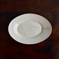 安齋新・厚子 米色青磁オーバル皿