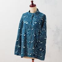 Indigo pullover:ladies (Drop Flowers)