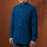 Indigo shirt:men's (plain/nomal coller)