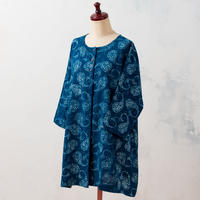 Indigo tunic:ladies (Paisley)