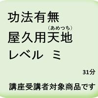功法有無屋久用天地(あめつち)レベル ミ