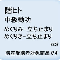 階ヒト 中級動功(めぐりみ・めぐりき-立ち止まり)