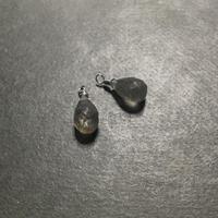 ステンレス製天然石チャーム ラブラドライト ドロップカット M 1ペア