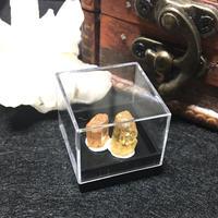 ブラジル産インペリアルトパーズ 原石 ラフカット 結晶 2個セット 1ケース F G0070