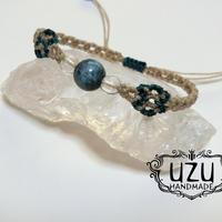 ブルーアパタイト マクラメブレスレット «uzu»