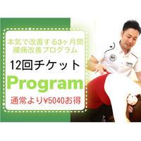 【12回チケット】本気で腰痛を改善する3ヶ月間  腰痛改善プログラム