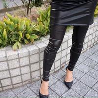 スカート付きレギンス eco leather