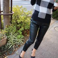 eco leather cargo pants