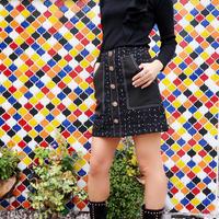 ツイードデザインスカート
