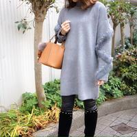 far knitワンピース gray