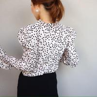 アウトレットエレガントdot blouse