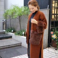FOX far gown coat