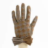 1/25DS革繋ぎ手袋(婦人用)グレージュ