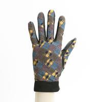 保多織をうまげによっけ繋いだ手袋(婦人用)クロ