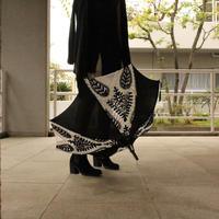 ブラック&ホワイト刺繍傘