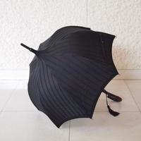 ブラックストライプ日傘