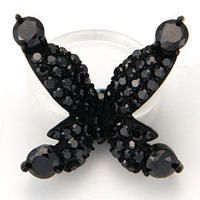 Papillon Floating ring-black