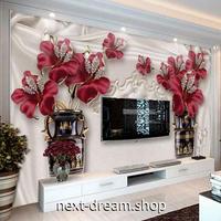3D 壁紙 1ピース 1㎡ ヨーロピアンスタイル 花 宝石 DIY リフォーム インテリア 部屋 寝室 防湿 防音 h03097