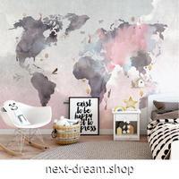 壁紙 8D素材 世界地図 ピンクグレー 1ピース 1㎡ サイズカスタマイズ可能 部屋 ショップ 店舗 m06168