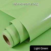壁紙 60×500cm 無地 光沢 ライトグリーン 緑 DIY リフォーム インテリア 部屋・キッチン・家具にも 耐油 防湿 防音 h03664