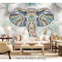 3D 壁紙 1ピース 1㎡ 象 アニマル 動物 インド インテリア装飾 寝室 リビング 客室 豪華  アートm03298