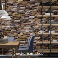 3D 壁紙 53×1000㎝ 石レンガ レトロ  PVC 防水 カビ対策 おしゃれクロス インテリア 装飾 寝室 リビング h01922