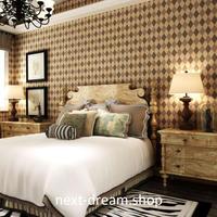 3D 壁紙 53×1000㎝ チェック ダイヤモンド格子 DIY 不織布 カビ対策 防湿 防水 吸音 インテリア 寝室 リビング h01990