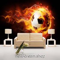 3D 壁紙 1ピース 1㎡ サッカーボール 炎のシュート DIY リフォーム インテリア 部屋 寝室 防湿 防音 h03153