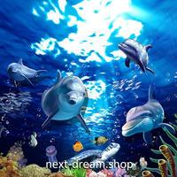 3D 壁紙 1ピース 1㎡ 絵画 水中世界 いるか インテリア 装飾 寝室 リビング 耐水 防湿 h02597