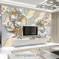 3D 壁紙 1ピース 1㎡ ヨーロッパ風 モダンアート 花 インテリア 部屋装飾 耐水 防湿 防音 h02896