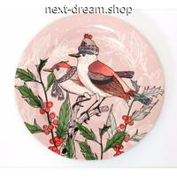 新品送料込 皿 セラミック 食器 ピンク クリスマス 鳥と花 北欧スタイル 高級 おしゃれ 00824
