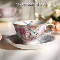 新品送料込  ティーカップ 225ml ソーサー スプーン 3点セット 英国風 パストラル 磁器 コーヒー お茶会に  食器 高級装飾 贈り物  m00574
