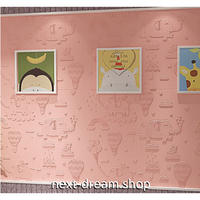 【3D壁紙】 70×70cm 立体 象さん 気球 ピンク 接着剤付 高級クロスステッカー 子供部屋 ショップ DIY 防水 m03979