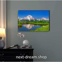 【お洒落な壁掛けアートパネル】 枠付き 40×60cm 青空 湖 雪山 自然風景 写真 絵画 部屋 インテリア m06319