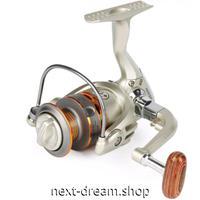 新品 スピニングリール 釣り道具 フィッシング 高性能ベアリング 鯉釣り シルバー×ゴールド 2000 / 3000 / 4000 /5000番 m02009