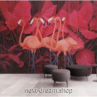 3D 壁紙 1ピース 1㎡ ピンクフラミンゴ インテリア装飾 寝室 リビング 客室 豪華  アートm03297