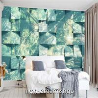 3D 壁紙 1ピース 1㎡ 森の写真 ジャングル パズル 立体ブロック キッチン 寝室 リビング 客室 m03323