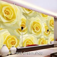 3D 壁紙 1ピース 1㎡ ヨーロッパモダン 黄色い薔薇 写真 インテリア 部屋装飾 耐水 防湿 防音 h02969