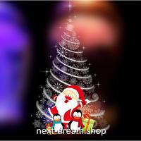 【ウォールステッカー】壁紙 DIY 部屋装飾 寝室 リビング インテリア 60×90cm イラスト クリスマス ツリー サンタ m02206