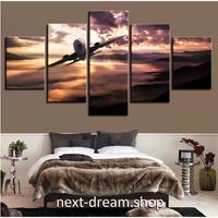 【お洒落な壁掛けアートパネル】 5点セット 飛行機 空 雲 夕焼け ジェット航空機 絵画 ファブリックパネル インテリア m04827