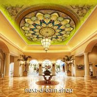 3D 壁紙 1ピース 1㎡ ヨーロッパレトロ ダマスク柄 天井用 インテリア 装飾 寝室 リビング 耐水 防湿 h02684