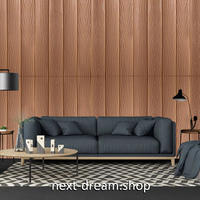 【ウォールステッカー】 壁紙 3D 木製デザイン リビング 防水 DIY 部屋 シール 茶色 ブラウン 70×70cm 10PCSセット m02381