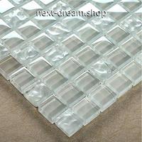 3D壁紙 30×30cm 11枚セット クリスタルガラス 透明 DIY リフォーム インテリア 部屋/浴室/トイレにも h04542
