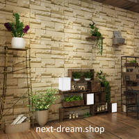 3D 壁紙 53×1000㎝ ヨーロッパ 石レンガ DIY 不織布 カビ対策 防湿 防水 吸音 インテリア 寝室 リビング h02109