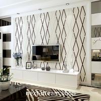 3D 壁紙 53×1000㎝ モダン カーブストライプ DIY 不織布 カビ対策 防湿 防水 吸音 インテリア 寝室 リビング h01953