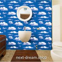 【ウォールステッカー】壁紙 DIY 部屋 シール 寝室 リビング インテリア 45×100cm 青空 白い雲 くも  m02361